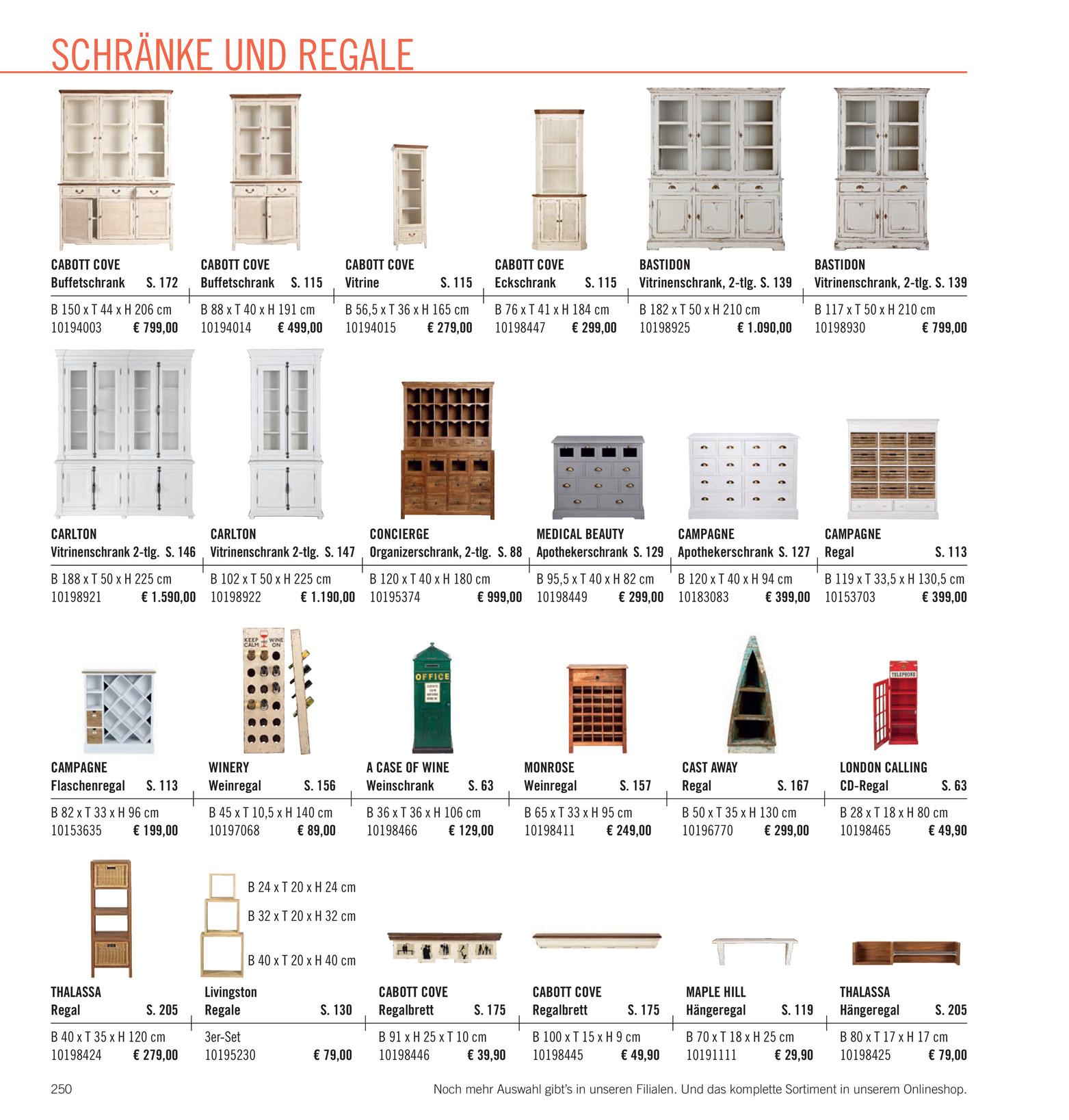 Butlers Katalog De Wohnst Cke Katalog 2014 Seite 250 251