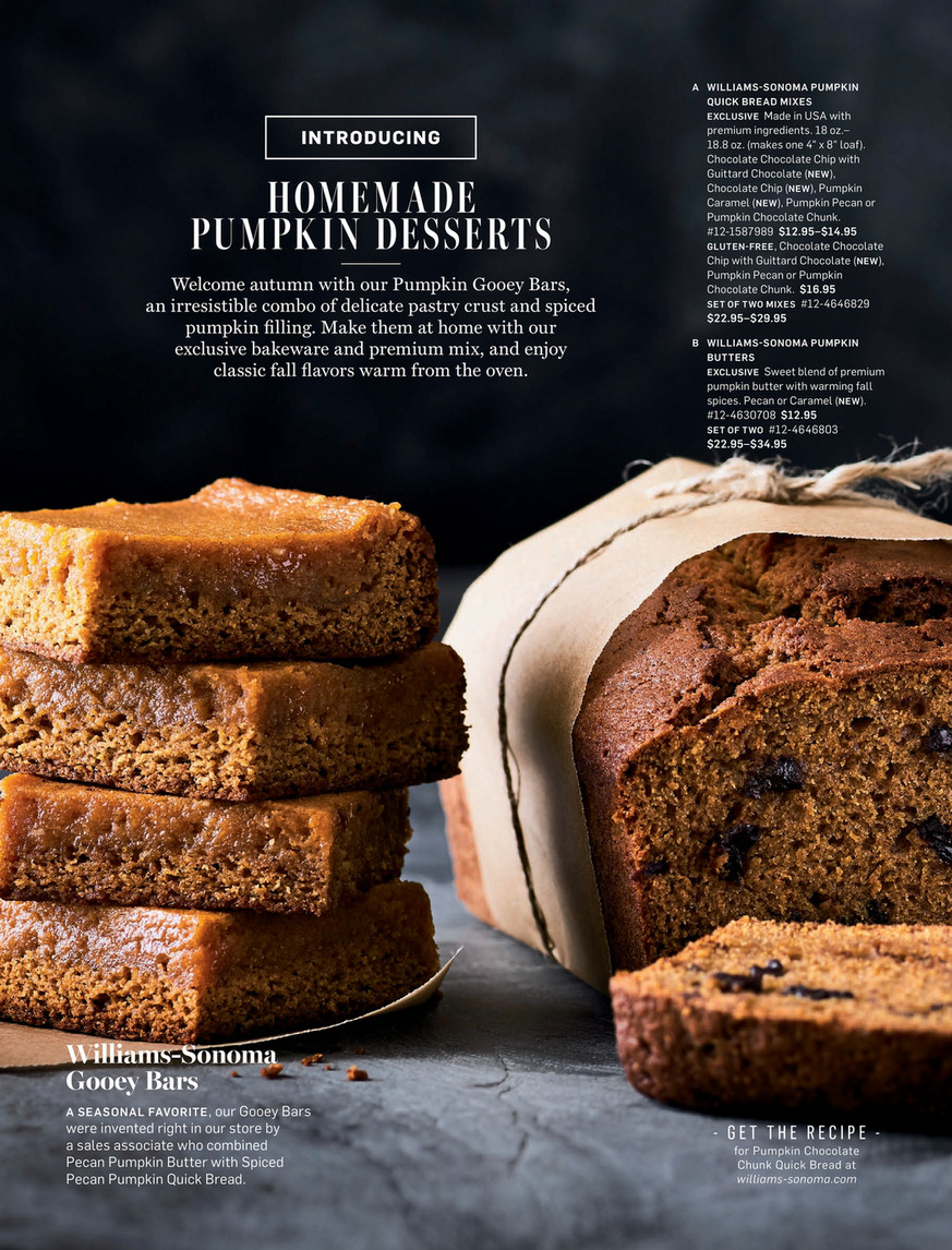 Williams Sonoma September 2016 Catalog Pecan Pumpkin Butter