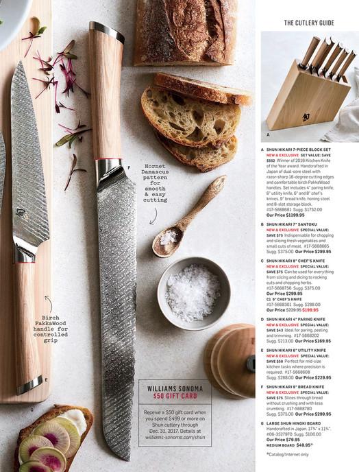 Williams-Sonoma - April 2017 Catalog - Shun Classic Western Chef's
