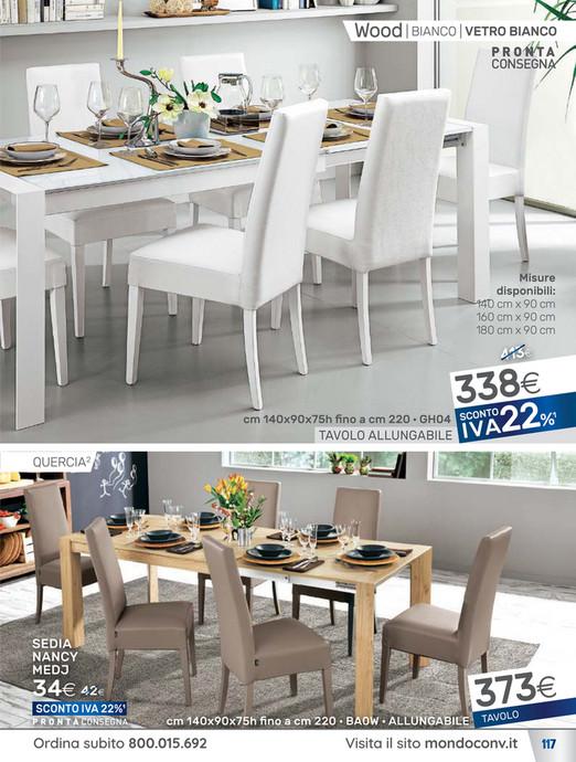 Tavolo Bianco Allungabile Mondo Convenienza.Mondo Convenienza Tavolo Wood Trendy Elegant Prezzi Sedie Mondo