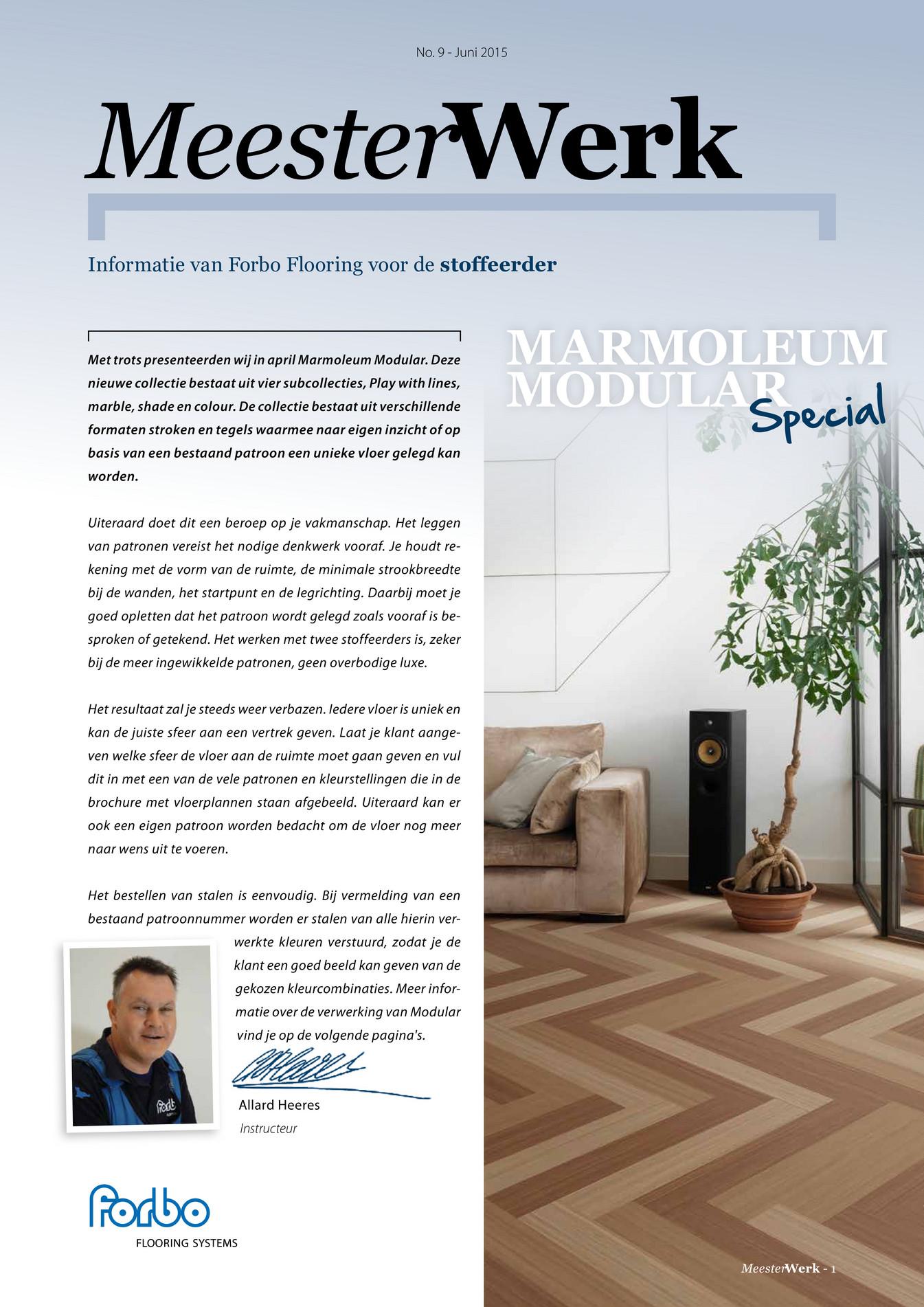 Forbo Flooring Nl Marmoleum Modular Special Pagina 1