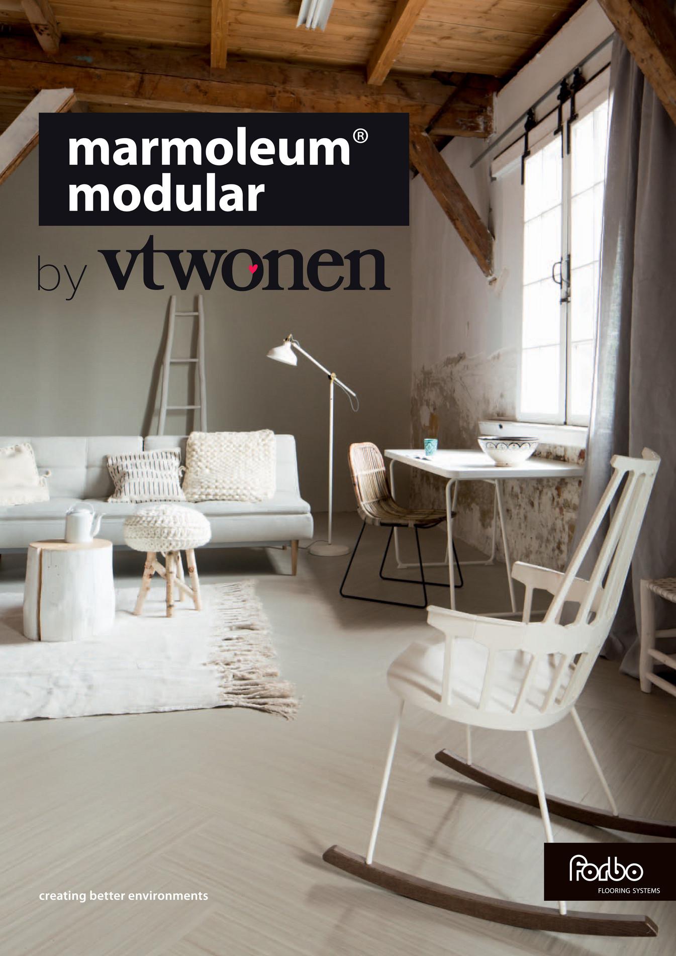 Brochure Marmoleum Modular by vtwonen - Pagina 1