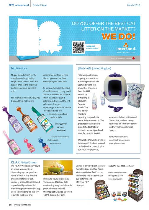 PETS International - PETS International Magazine March 2015 - Page 58-59