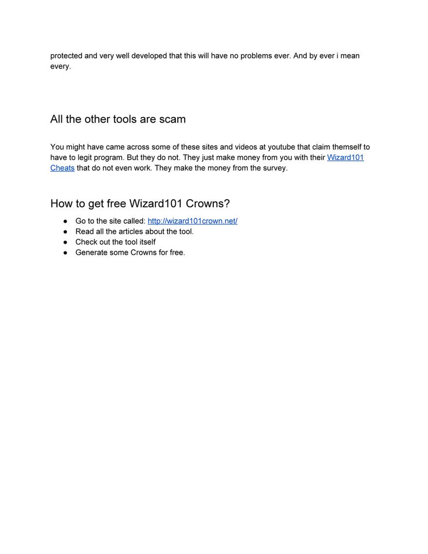 My publications - Myth behind Wizard101 Crown Generator? Is it