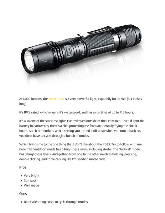 My publications - 2016 Tactical Flashlight Buying Guide - Page 28-29