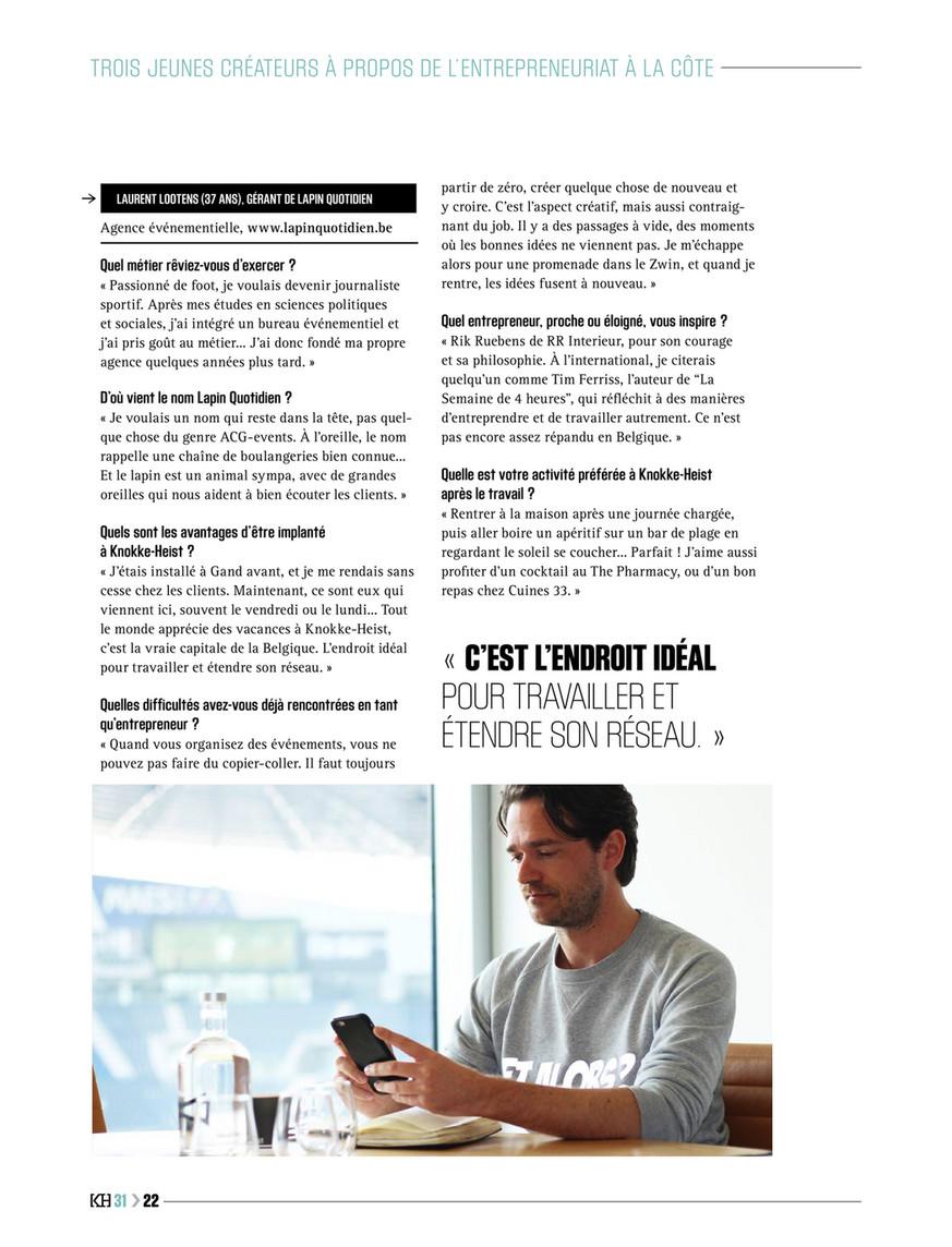 Knokke Heist Magazine Kh Magazine 31 Fr Page 24 25