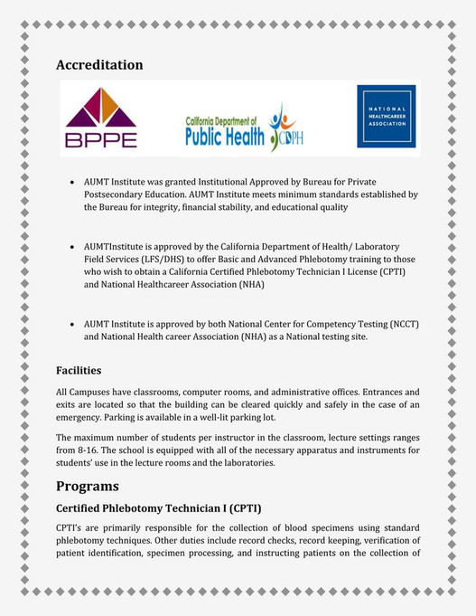Aumt Phlebotomy Training Torrance Page 2 3 Created With
