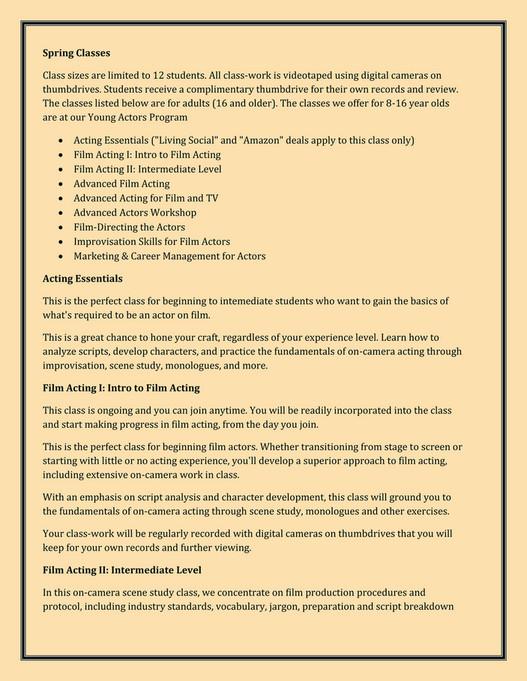 Filmactingbayarea Acting Classes In San Francisco Page 2 3