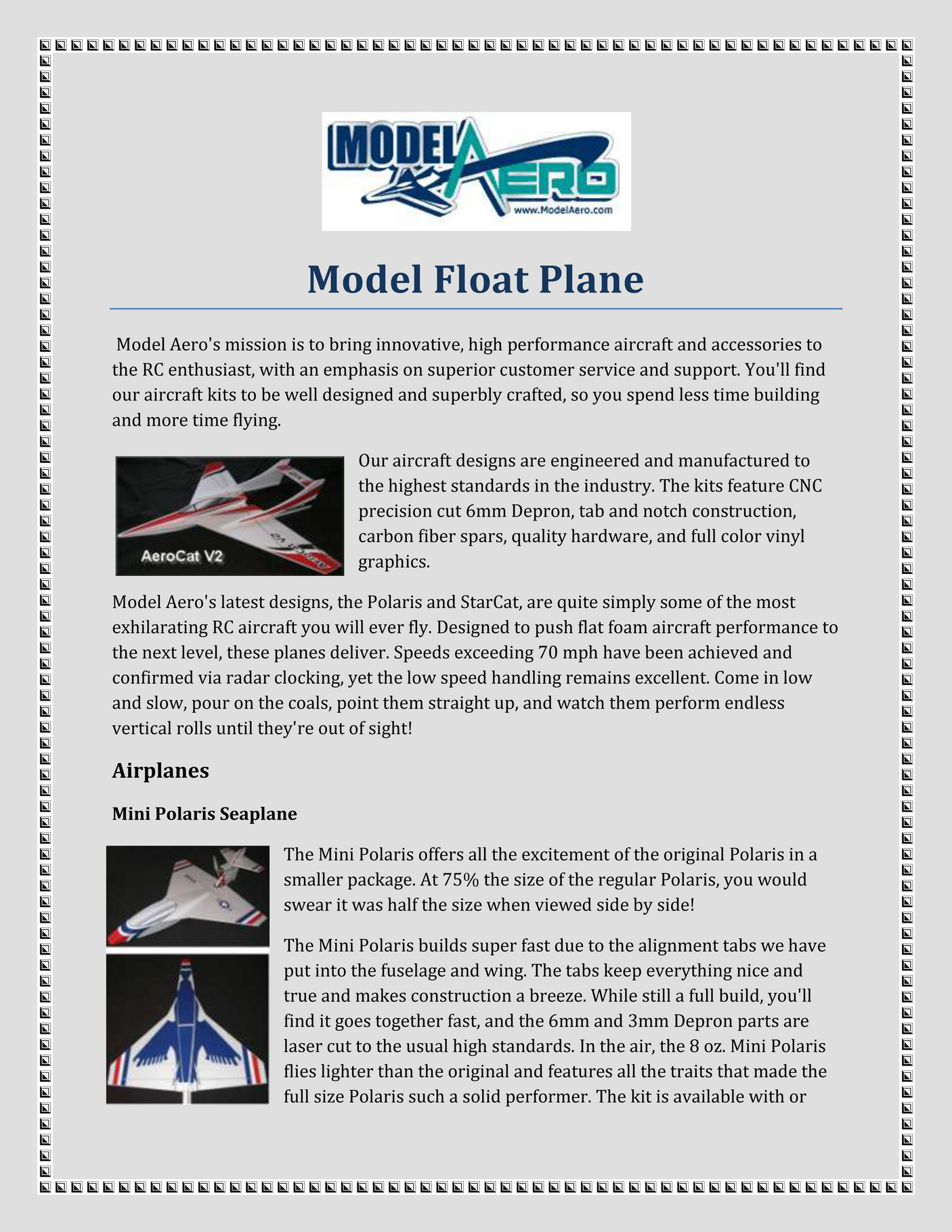 modelaero - Model Float Plane - Page 2-3 - Created with