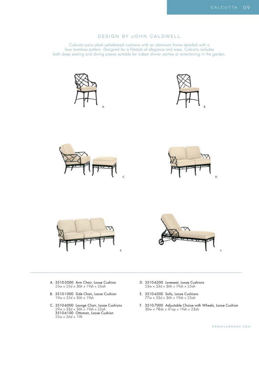 Fantastic Brown Jordan Patio Terrace Lounge Chairs Ottoman Chaise Side Machost Co Dining Chair Design Ideas Machostcouk