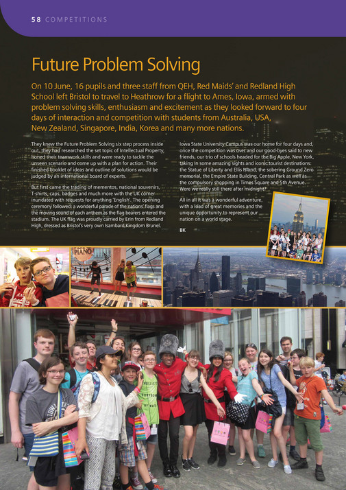 QEH Bristol - The Elizabethan 2015 - Page 60-61 - Created