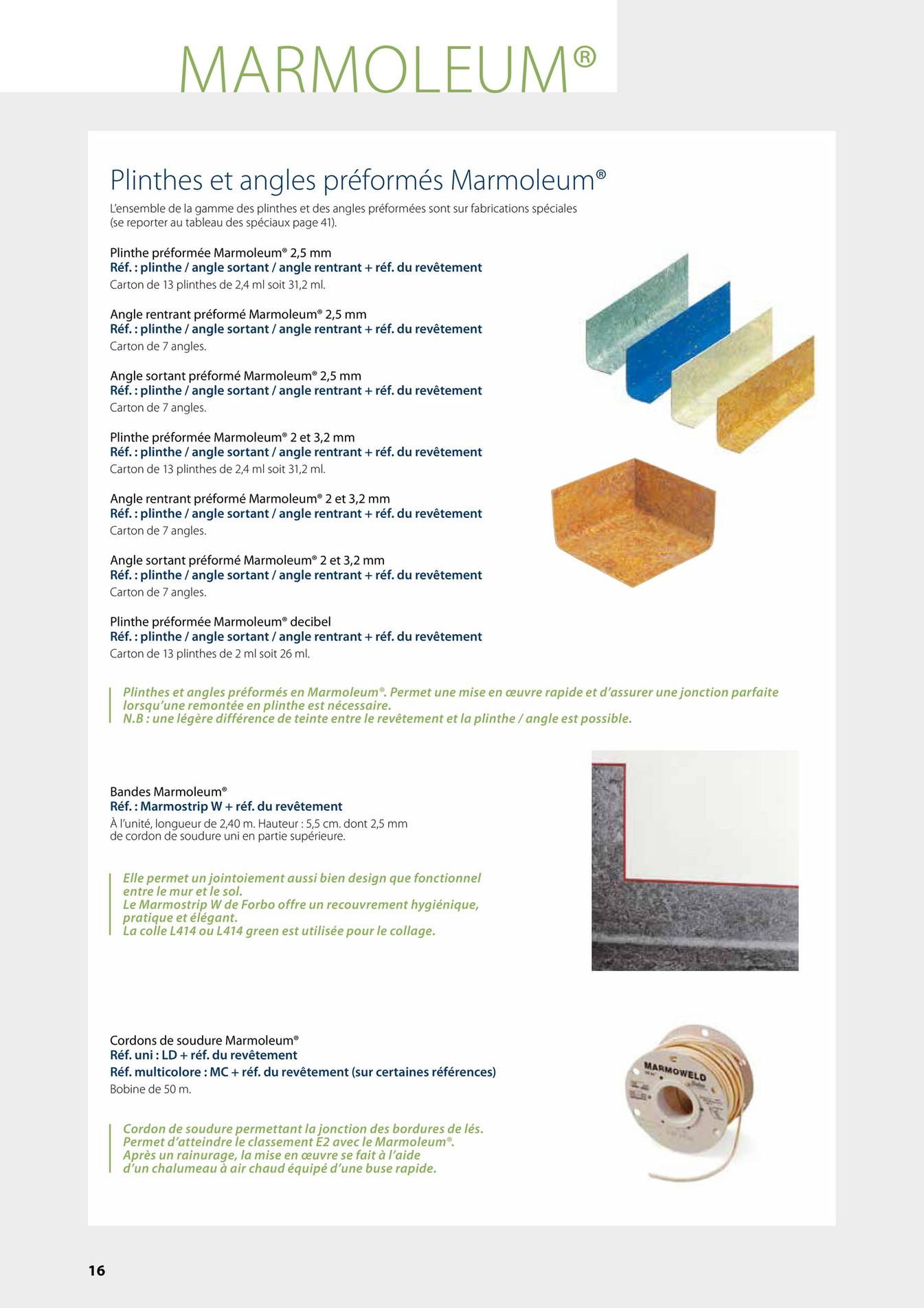 Profilés / Plinthes Marmoleum® Click. Plinthe Marmoleum® Click