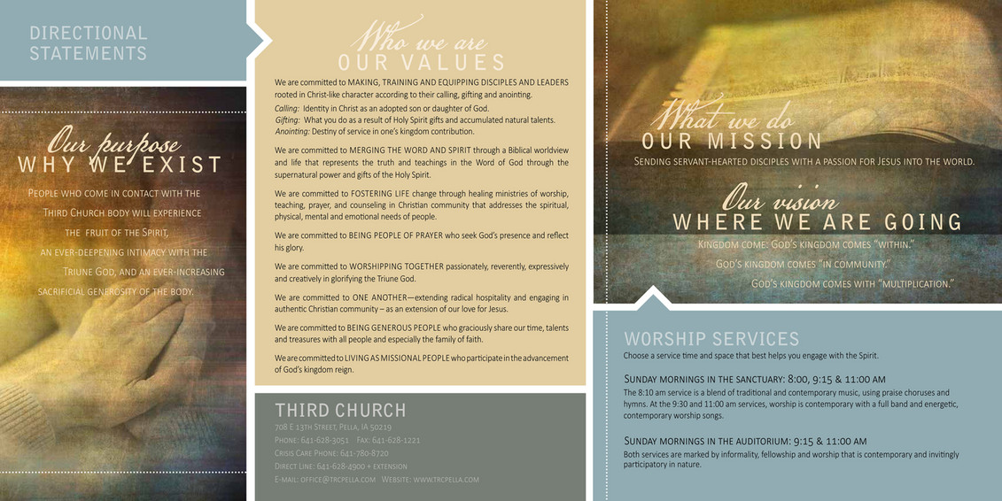Third Reformed Church - Third Church Brochure - Page 1 - Created