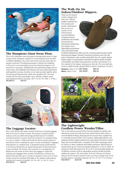 d75bb7731e Created only for Hammacher The Walk On Air Indoor Outdoor Slippers. The  Hamptons Giant Swan Float. This