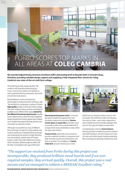ForboFlooring_UK - Forbo Cutting Edge magazine Spring 2018 - Page 20-21