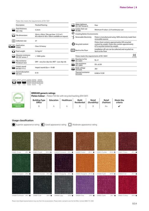 Flotex Colour 8 Tiles Meets The Requirements Of En 1307 1 G
