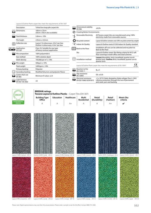 Tessera Loop Pile Plank Xl 3 Layout Outline Carpet Tiles Meet The