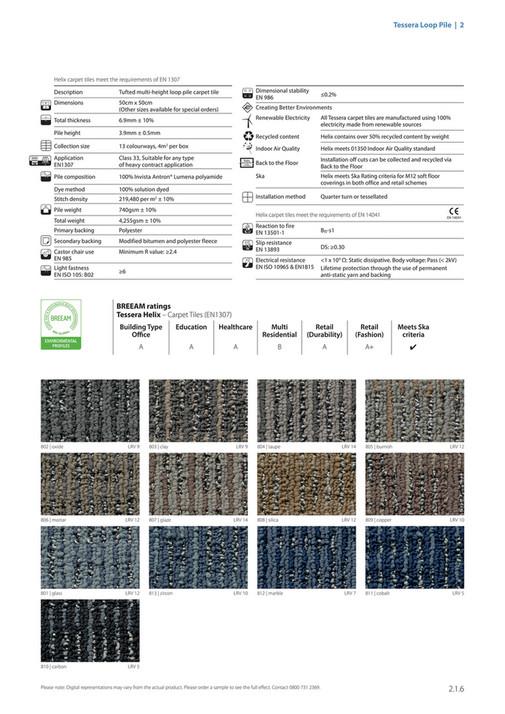 Tessera Loop Pile 2 Helix Carpet Tiles Meet The Requirements Of En 1307 1