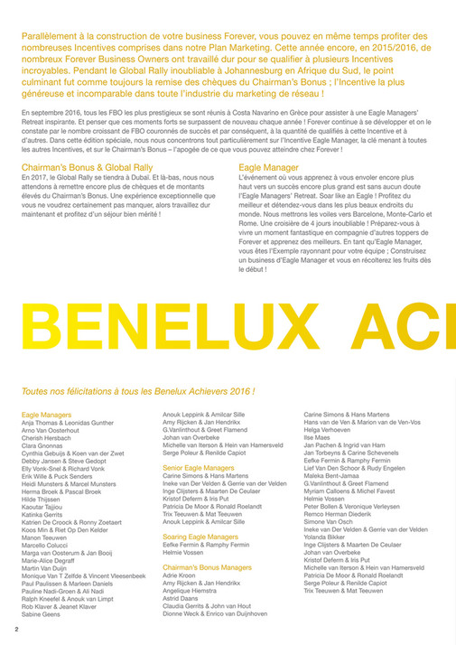 Forever Living Products Benelux Foreverbenelux Achievers 2016fr