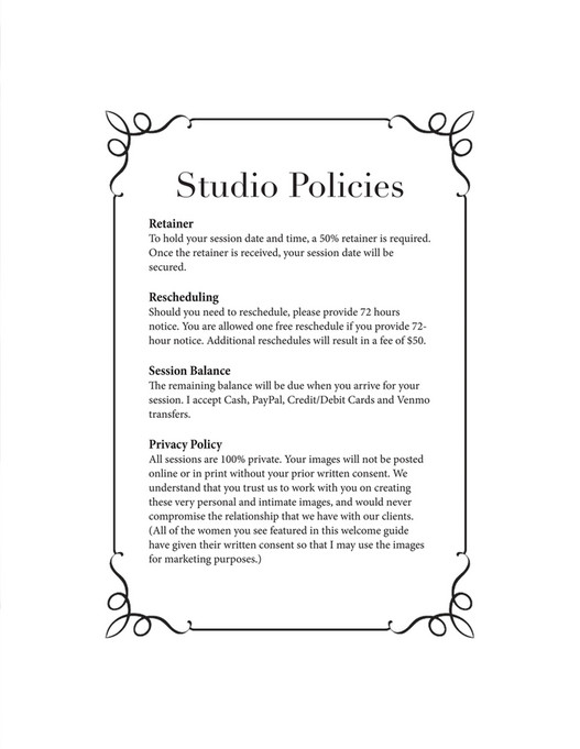 Boudoir Session Guide - Page 24 - Created with Publitas com
