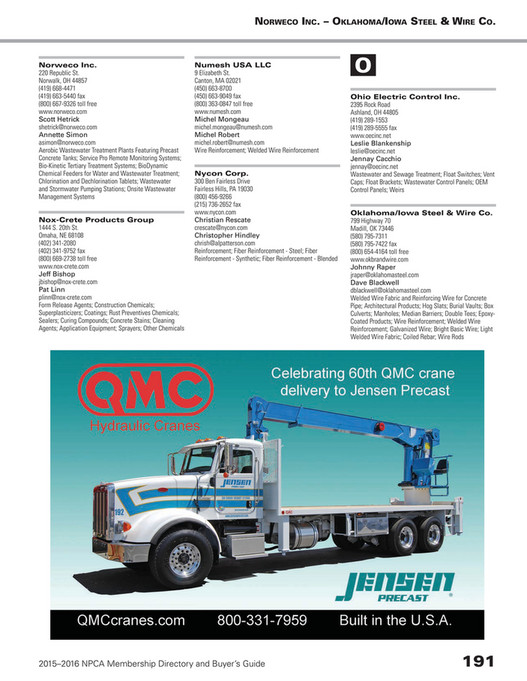 National Precast Concrete Association - NPCA Membership Directory ...