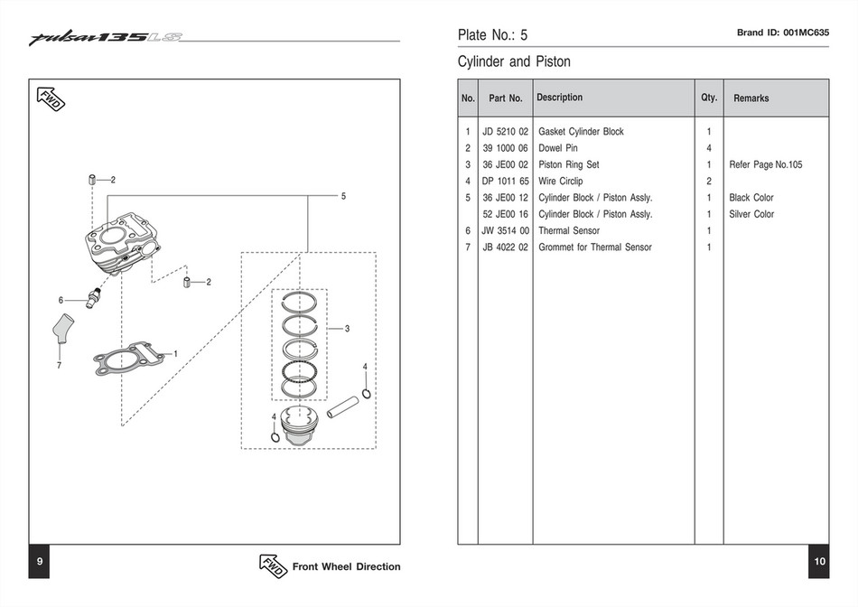 Dpmc p135 ls spc page 16 created with publitas brand id 001mc635 plate no 5 cylinder and piston 2 5 description qty ccuart Image collections