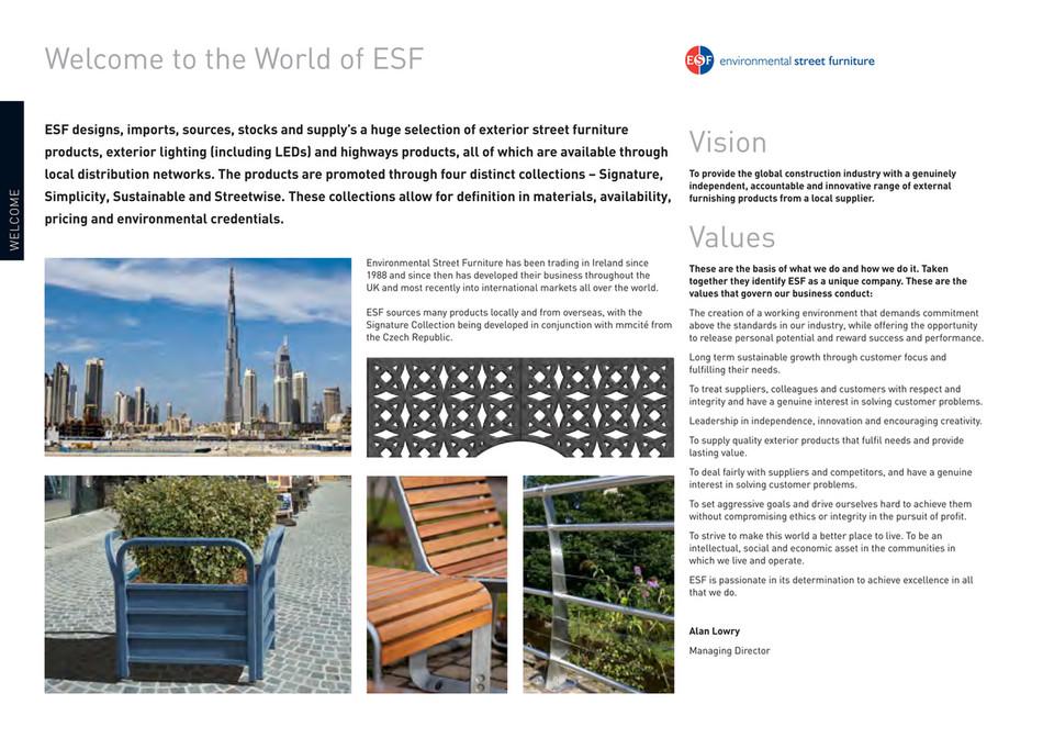 Environmental Street Furniture World, World Imports Furniture Catalog