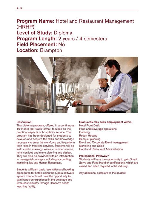 Hanson International Academy - College Brochure Vancouver - Page 8-9