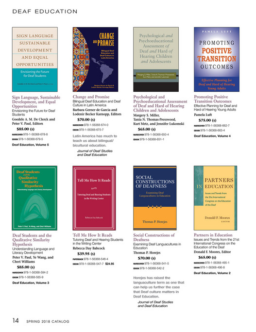 Gallaudet university press spring 2018 gallaudet university press d e a f e d u c at i o n sign language sustainable development and equal opportunities envisioning the future for fandeluxe Image collections