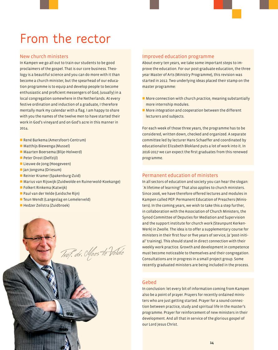 Theologische Universiteit van Kampen - TU Magazine 404