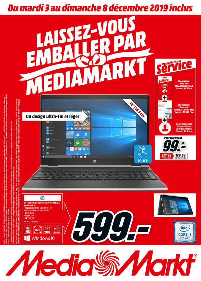 Folder MediaMarkt du 03/12/2019 au 08/11/2019 - Promotions de la semaine 49