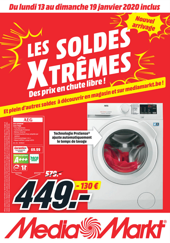 Folder MediaMarkt du 13/01/2020 au 19/01/2020 - Promotions de la semaine 03