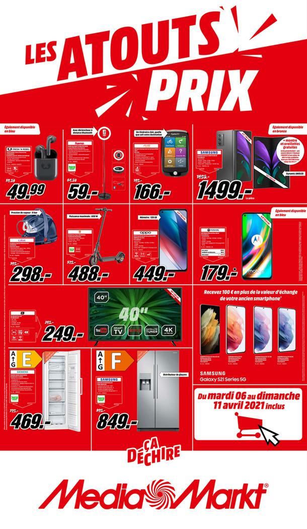 Folder MediaMarkt du 06/04/2021 au 11/04/2021 - Promotions de la semaine 14