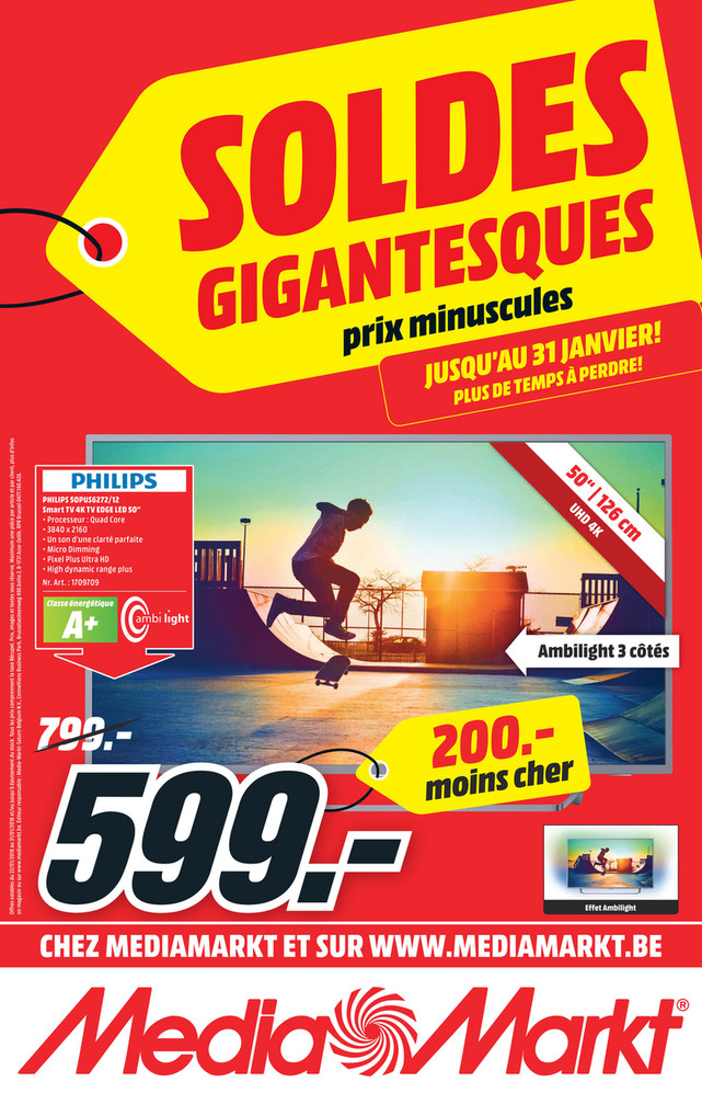 Folder MediaMarkt du 22/01/2018 au 31/01/2018 - Soldes gigantesques & prix minuscules