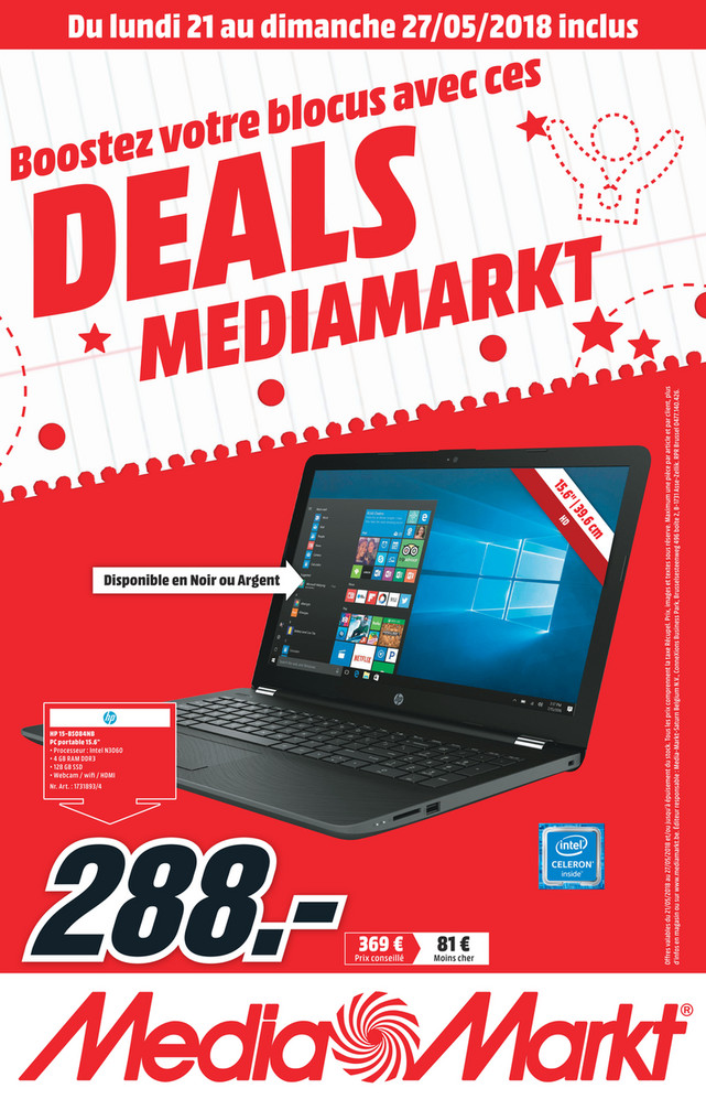 Folder MediaMarkt du 21/05/2018 au 27/05/2018 - Flyer week 21 FR.pdf