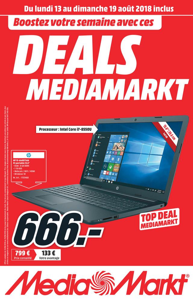 Folder MediaMarkt du 11/08/2018 au 19/08/2018 - MediaMarkt_W33_FR_Nieuw.pdf