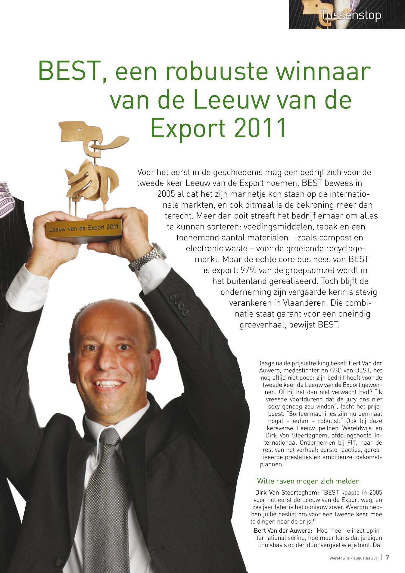 Flanders trade wereldwijs augustus 2011 pagina 6 7 - Witte salontafel thuisbasis van de wereldberoemde ...