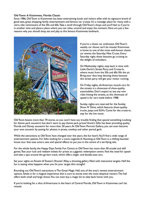 GoBYSA Limited - Orlando/Kissimmee Area Guide - Page 6-7 - Created