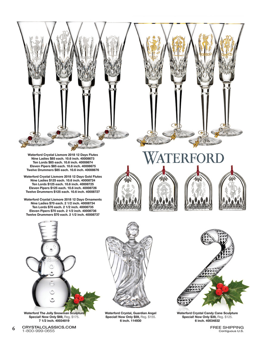 Waterford Lismore Twelve Drummers Ornament 2018 Waterford Holiday 40008737