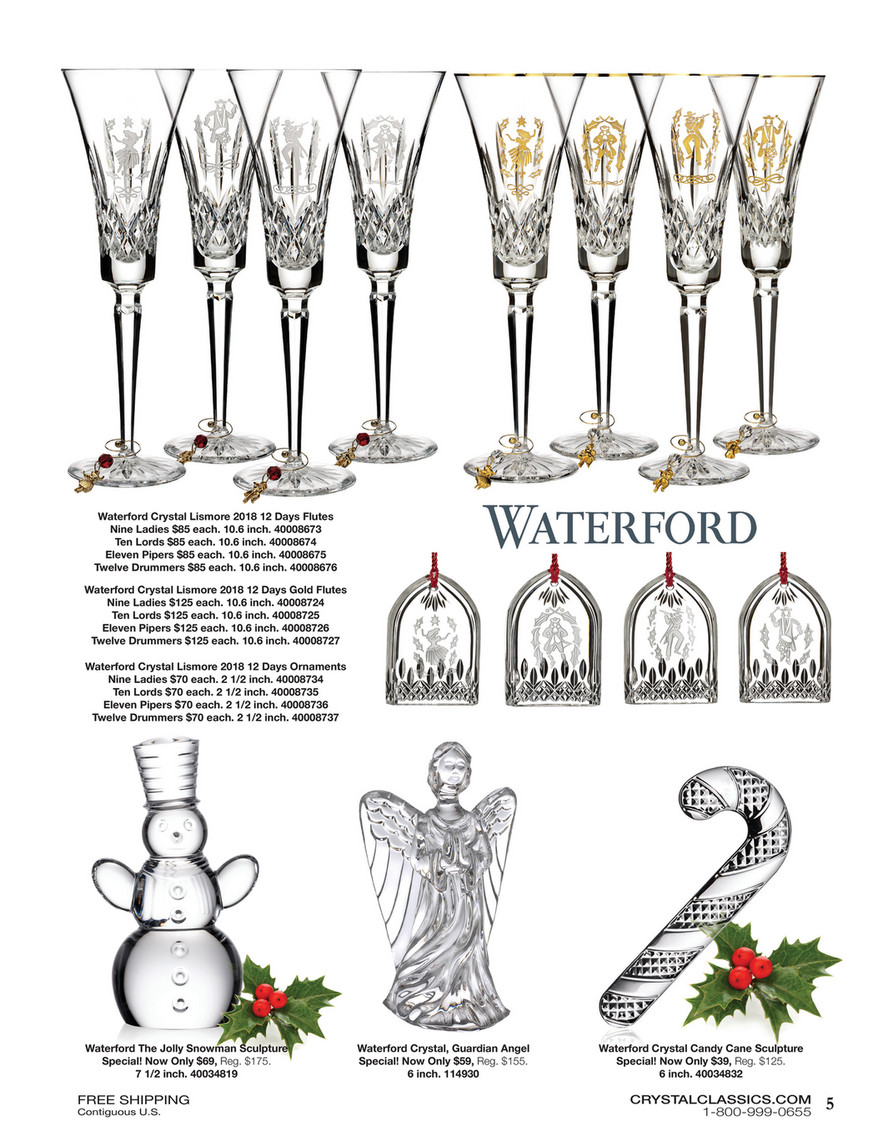 Waterford Lismore Nine Ladies Ornament 2018 Waterford Holiday 40008734