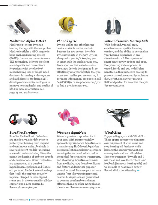 Hearing Health Foundation - Hearing Health Spring 2017 Issue