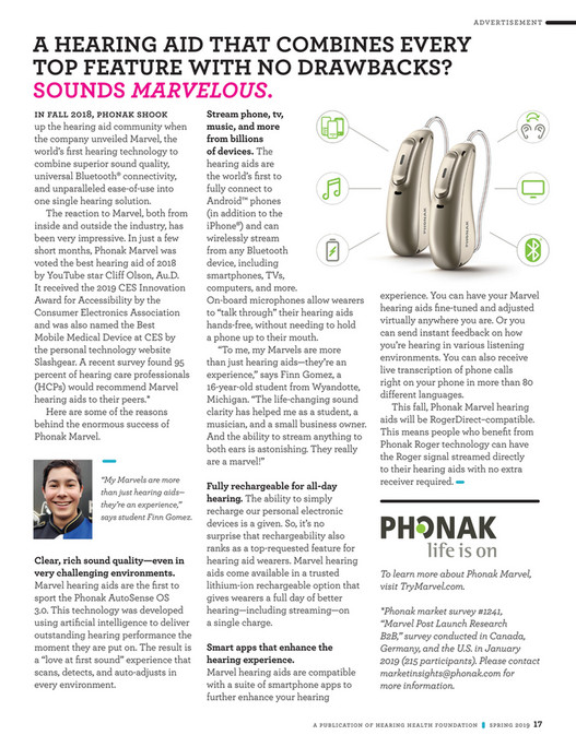 Hearing Health Foundation - Hearing Health Spring 2019 Issue - Page