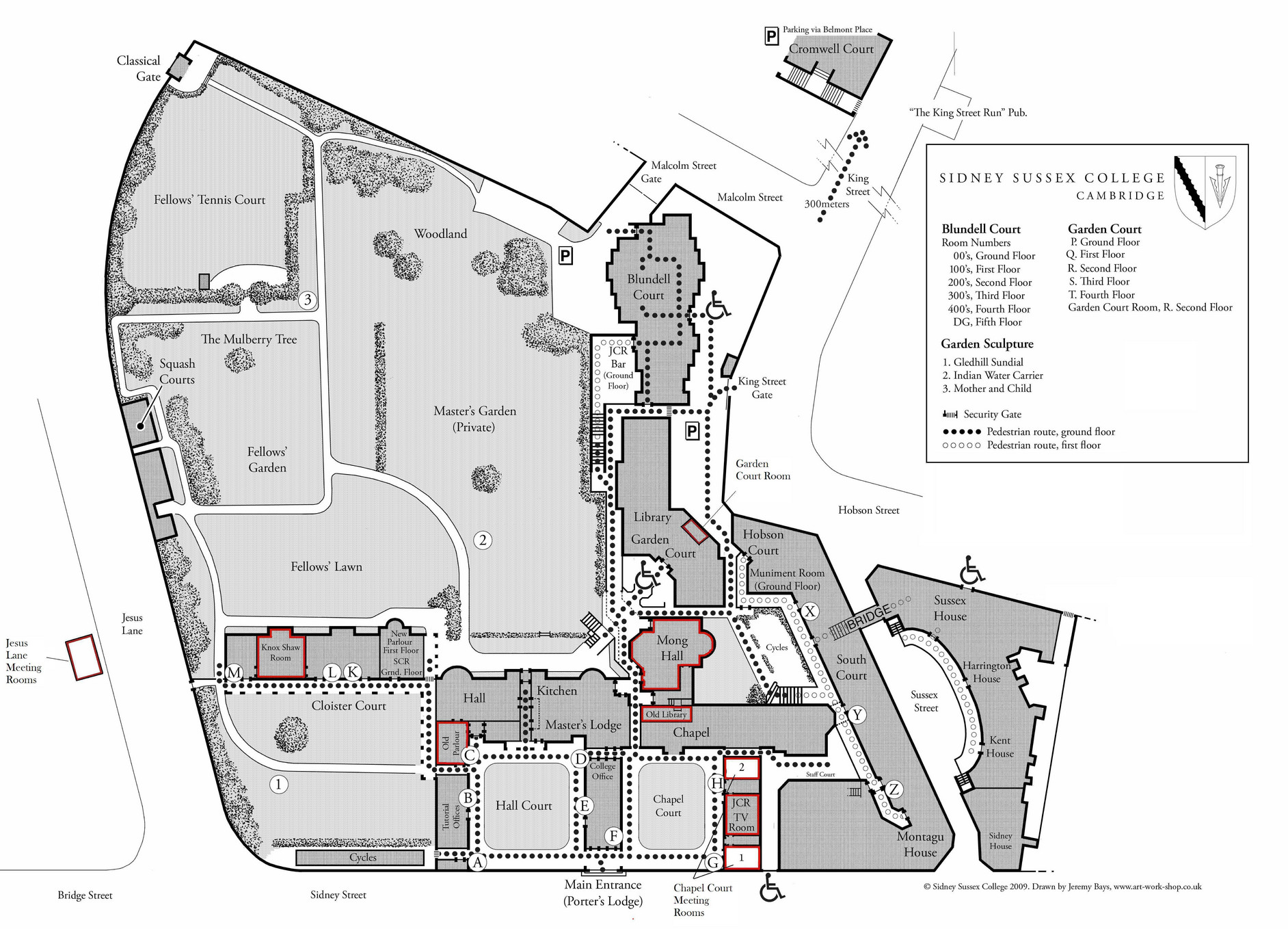 Sidney Sussex College Meetingroommap Page 1 Created