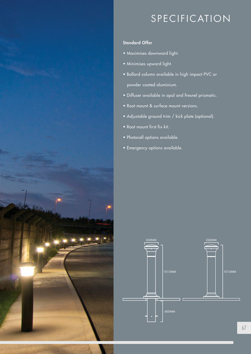 Minimises upward light. u2022 & ASD Lighting - ASD 2015 Exterior LED Range Brochure - Page 66-67 ...