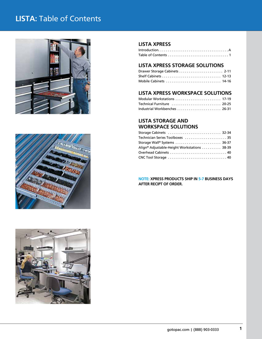 My Publications Lista Xpress Catalog Page 1
