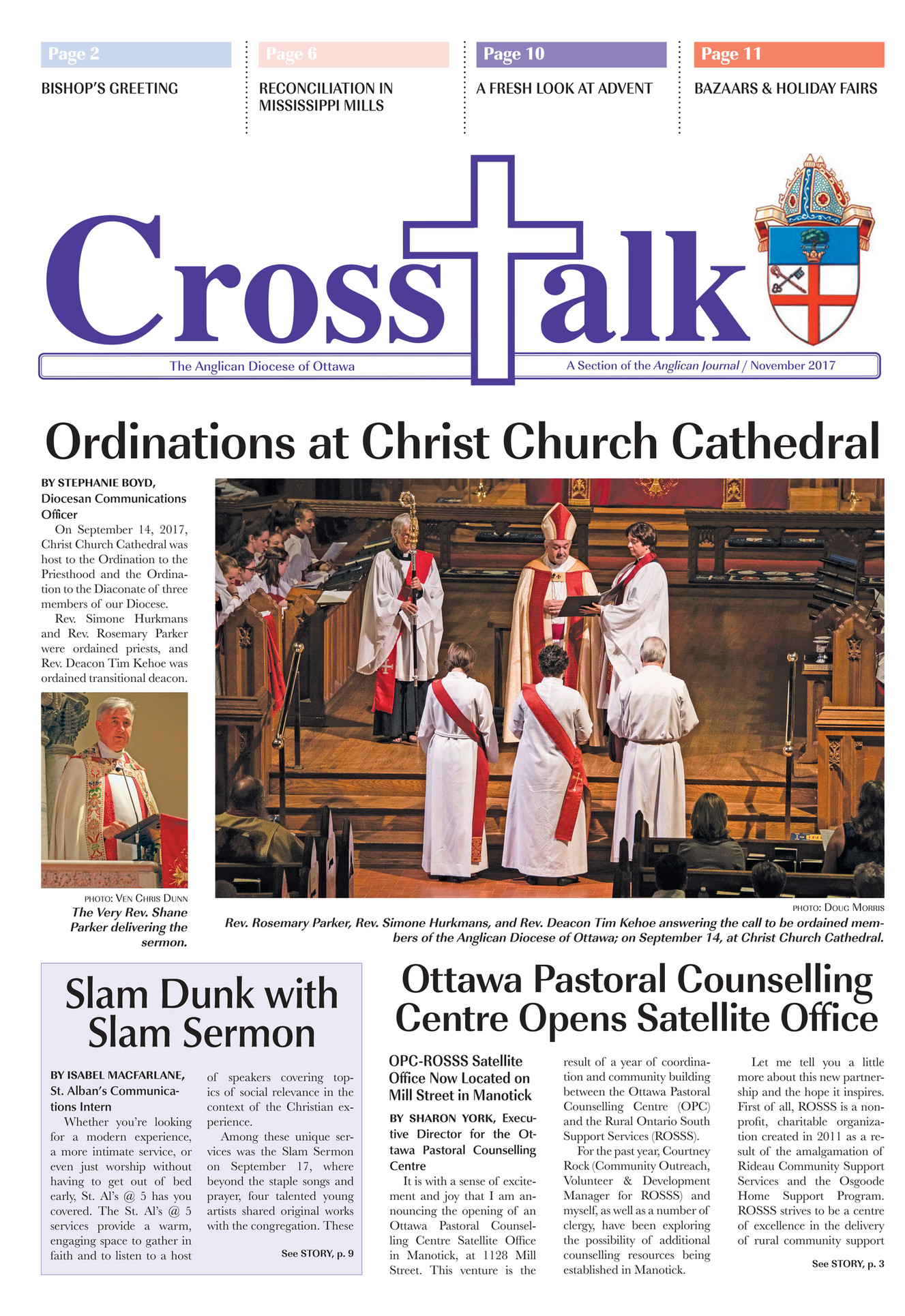 Anglican Diocese of Ottawa - Crosstalk - November 2017 - Page 1
