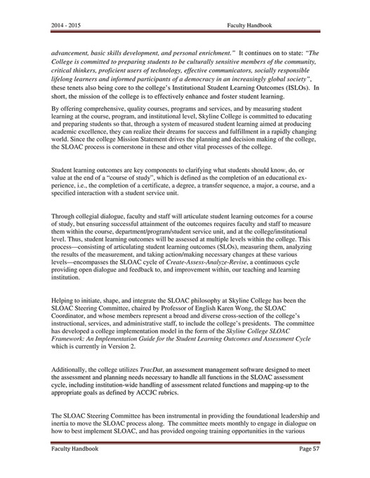 My publications - Skyline College Faculty Handbook 2014-15 - Page 60