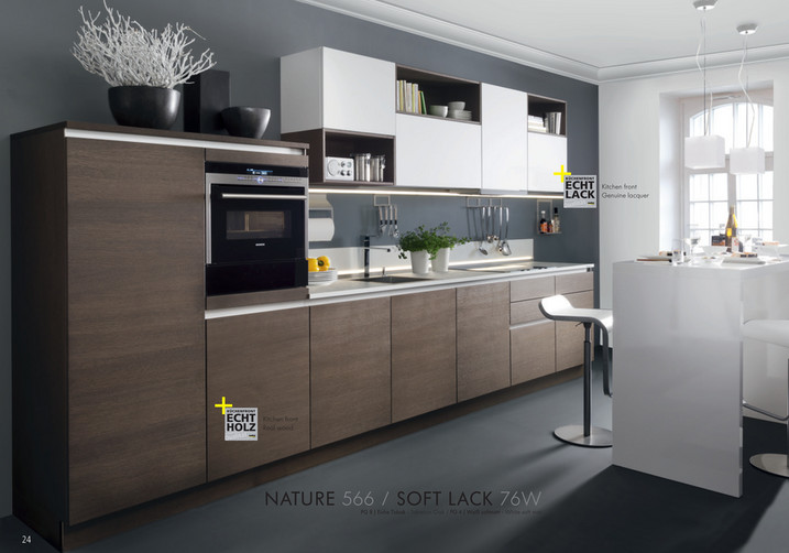 KÜCHENFRONT ECHT LACK petenz in Sachen t Qualitä Die Kom KÜCHENFRONT ECHT HOLZ hen enz in ... & Nolte USA LLC. - Exclusive German Kitchen Cabinets. � 2015 All ...