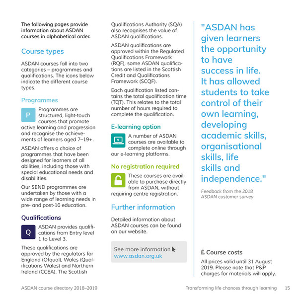 My publications - ASDAN Course Directory - Page 14-15 - Created with