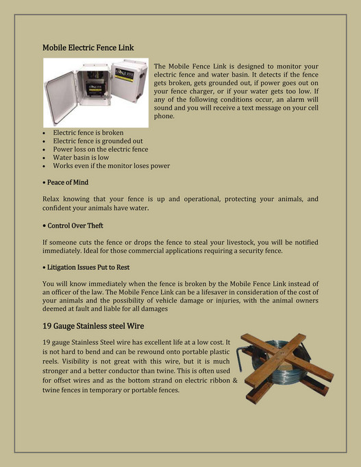 Electricfence - Electric Fence For Cattle - Page 2-3 - Created with